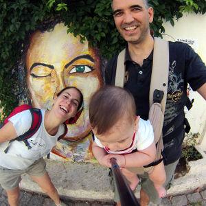 Leon'dan GOPRO ile ilk selfie, Bozcaada
